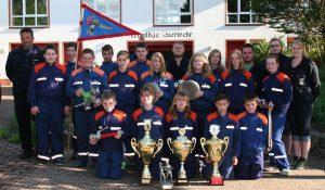 Gruppenbild Jugendfeuerwehr Freiwillige Feuerwehr Lieg