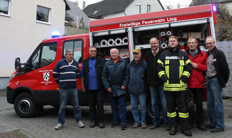 Gruppenfoto Seniorenwehr Freiwillige Feuerwehr Lieg