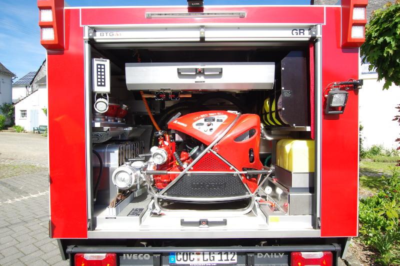 Freiwillige Feuerwehr Lieg Fahrzeug TSF-W Geräteraum Hinten