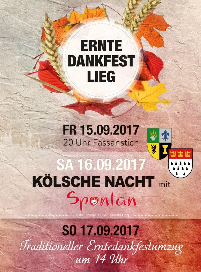 Erntedankfest Plakat Lieg 2017