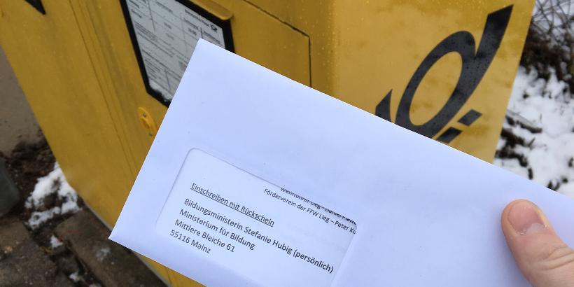 Schreiben Der Feuerwehr Nach Mainz Ortsgemeinde Lieg